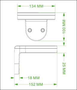 Solar Wall Lamp INX-02 dimensions